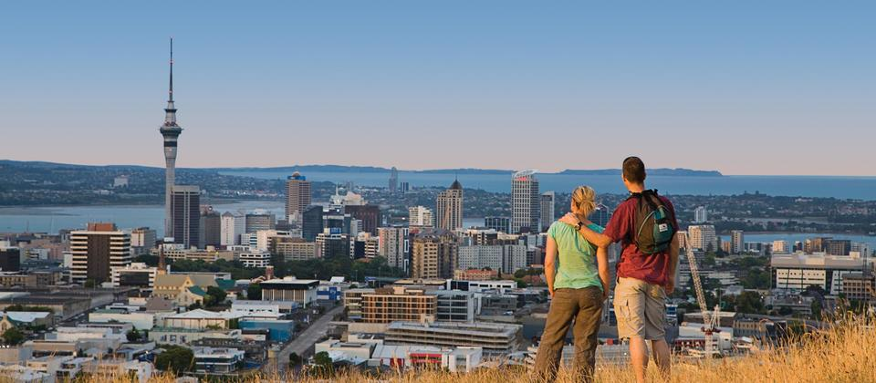 Auckland Tours with TIME Unlimited Tours - view of Auckland City from Maungawhau Mount Eden