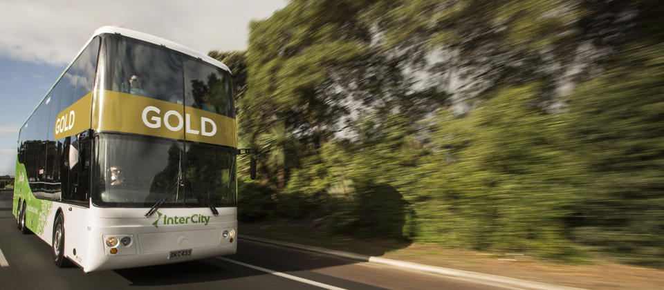 InterCity GOLD bus - new premium seats with recliners, legroom, WiFi and USB charge ports