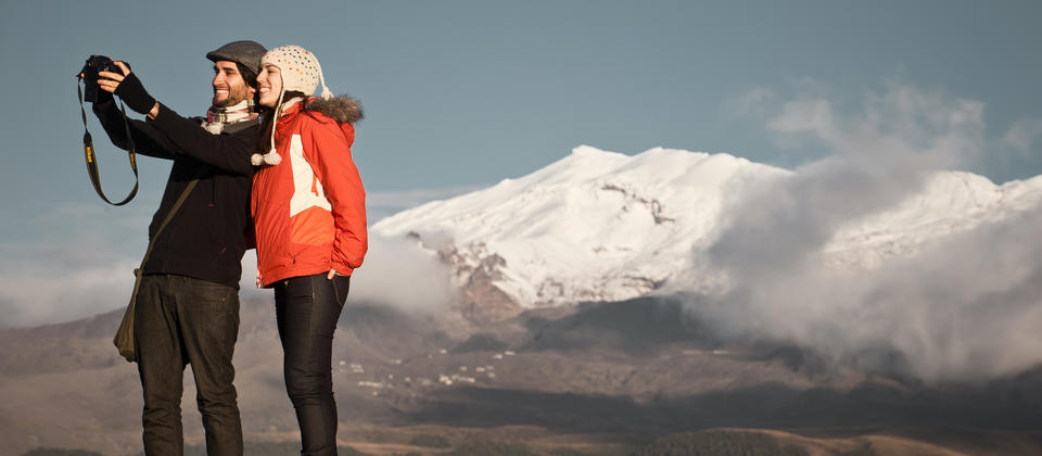 View of Mt Ruapehu from Discovery