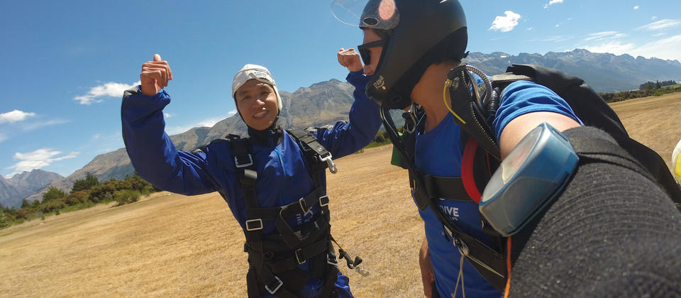 The feeling after Skydiving with Skydive Southern Alps is often beyond imagination.