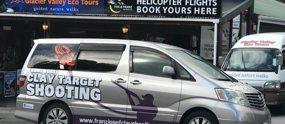 Our courtesy van will take you to and from the range