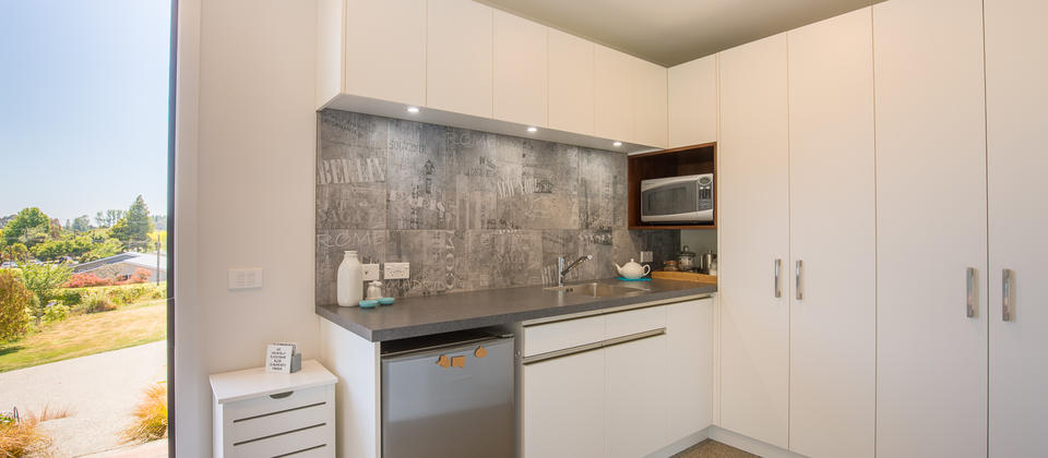 Blue Studio Kitchenette