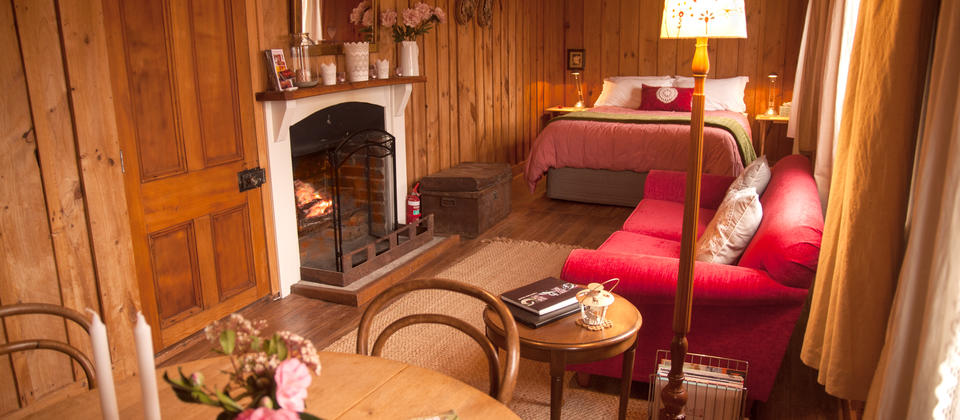 Stunning wooden features and open fire to enjoy, relax and romance within.