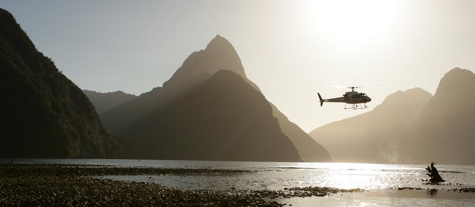 Milford Sound helicopter tours offer a trip of a lifetime.