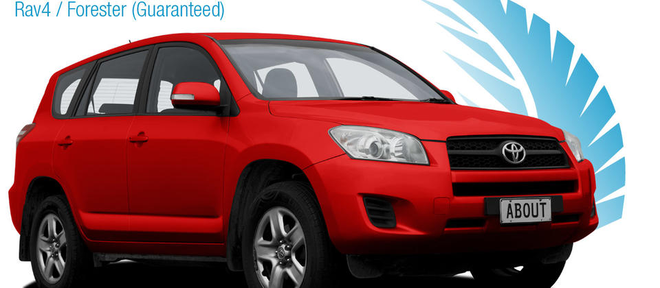 4x4 SUV - Toyota Rav4 / Subaru Forester. About New Zealand Rental Cars.