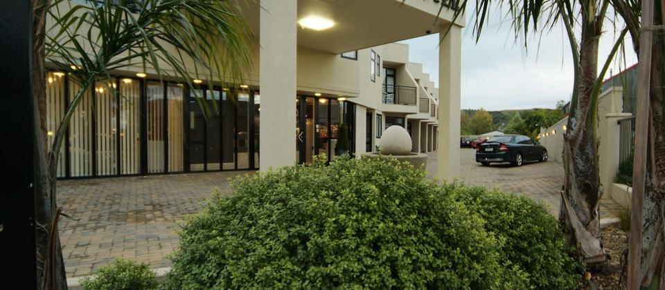 Entrance and carpark