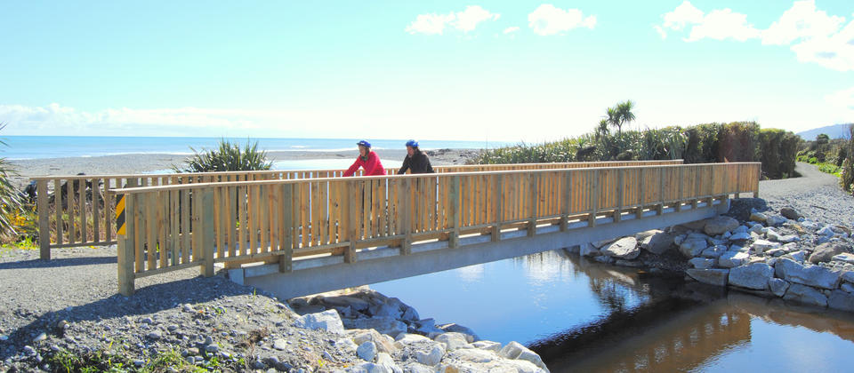 Cycle Path bridge about 2 hours from Greymouth on the Coastal path