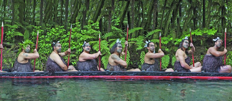 See a Maori waka paddled by powerful warriors at Mitai Maori Village