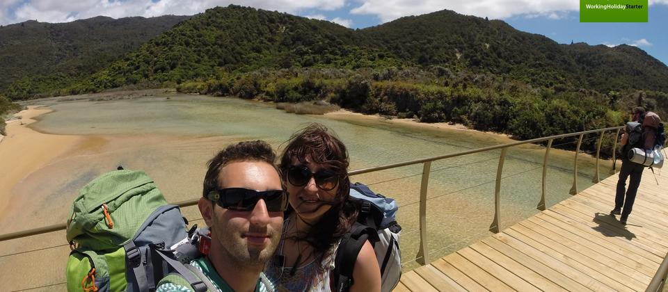 Mat & Marion from the UK Hiking Abel Tasman National Park