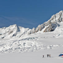 Land on the snow all year round at Fox Glacier