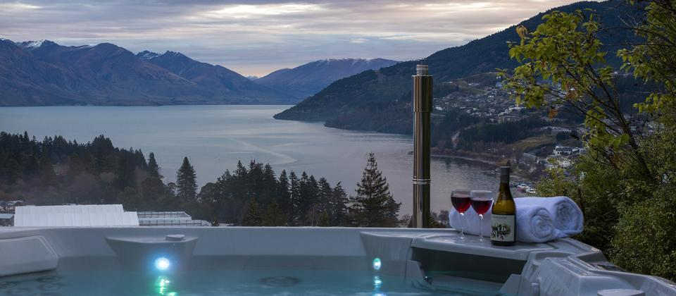 Stunning view from the spa