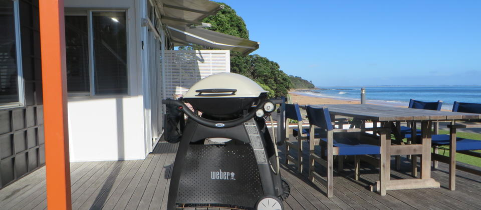 Weber BBQ and deck furniture for all apartments