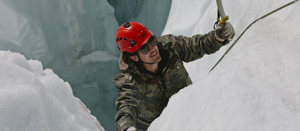 An exhilarating ice climbing adventure sure to give you a real sense of achievement.