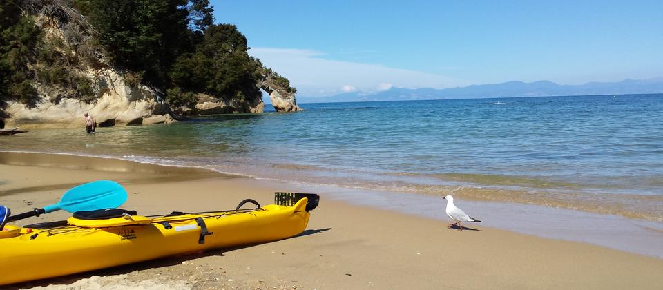 Remote beaches in the Abel Tasman National Park