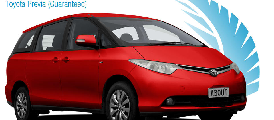MPV 8 Seater - Toyota Previa. About New Zealand Rental Cars
