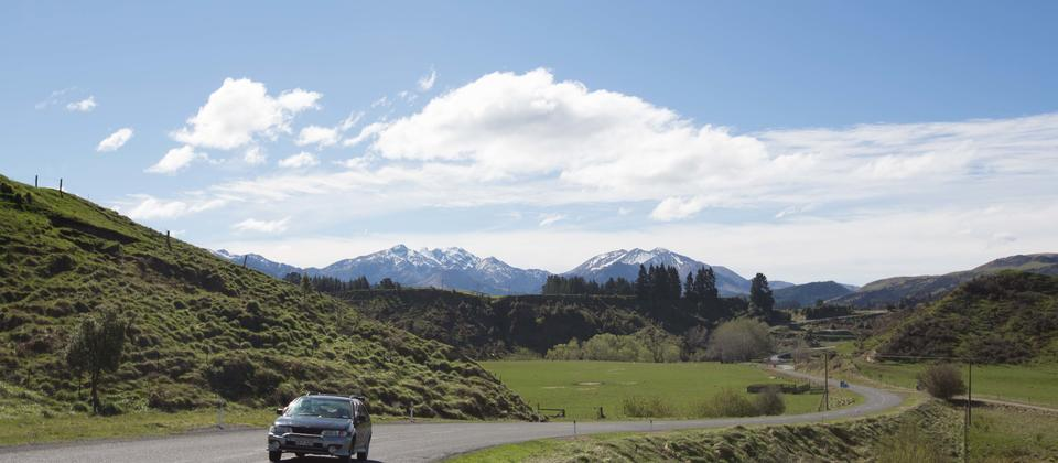 Driving the Alpine Pacific Triangle touring route.