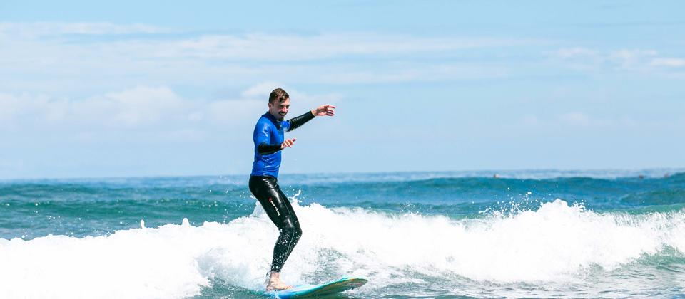 Muriwai Beach is a great place to learn to surf.
