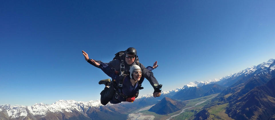 Skydiving over mind blowing scenery