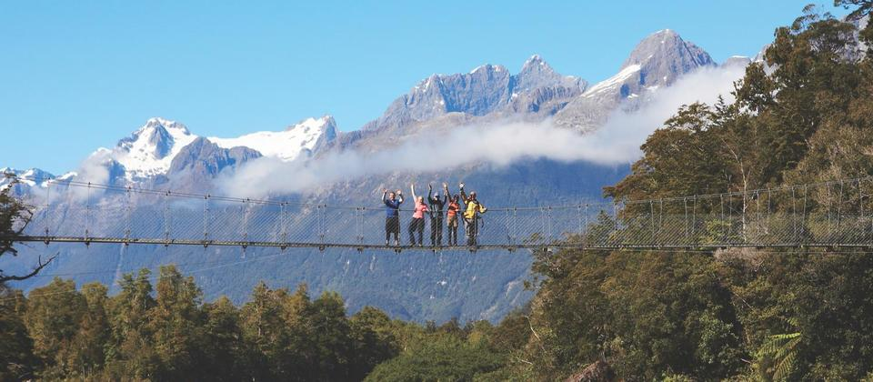 HFT - Pyke River Swingbridge - Fiordland's Longest Swingbrid