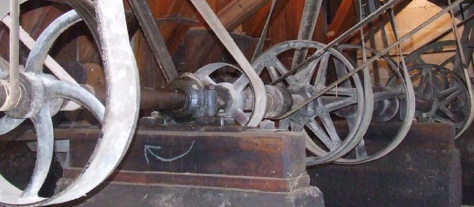 Machinery in the basement.