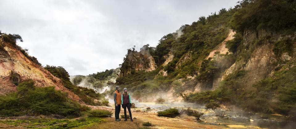 Waimangu Volcanic Valley - the world's youngest Geothermal system.