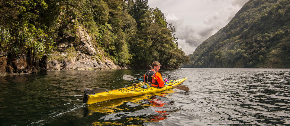 Doubtful Sound guided sea kayak tours