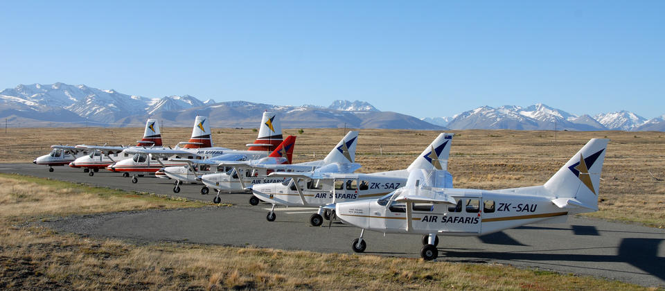 Air Safaris operate 3 types of aircraft giving them the capability to transport up to 70 people at one time.