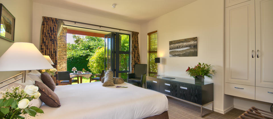 All of our Guest Rooms have direct access into the gorgeous gardens