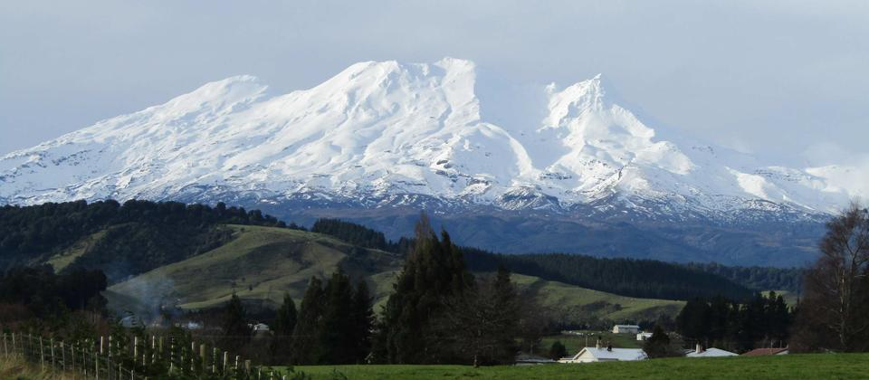 The majestic Mt Ruapehu