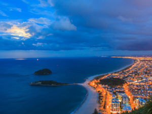 Mt Maunganui Beach at night