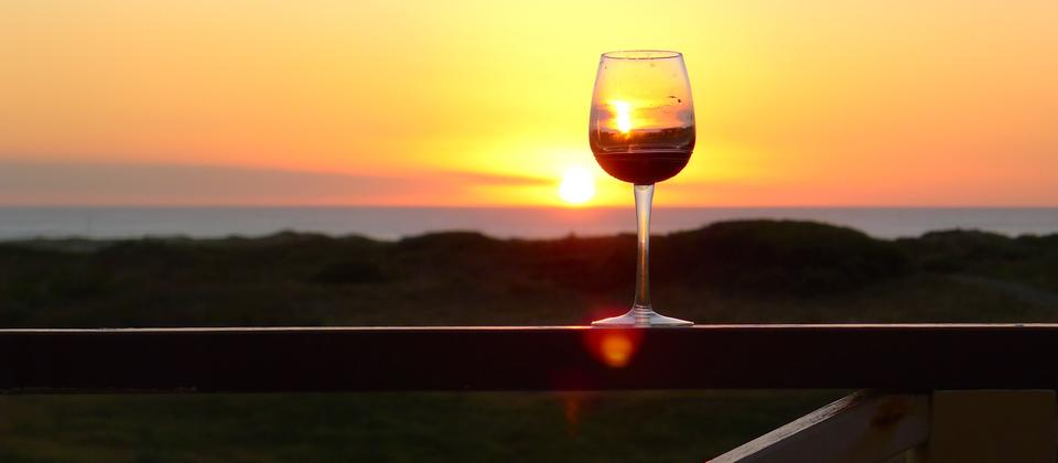 A sumptuous wine at sunset