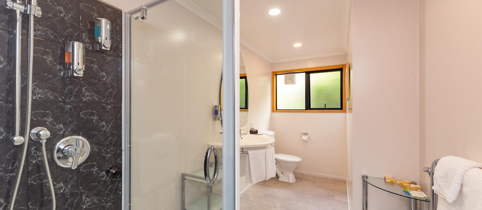 The Suite has a spacious Shower Ensuite