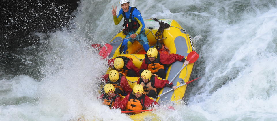 Paddles up! There's heaps of whitewater on the Kaituna.