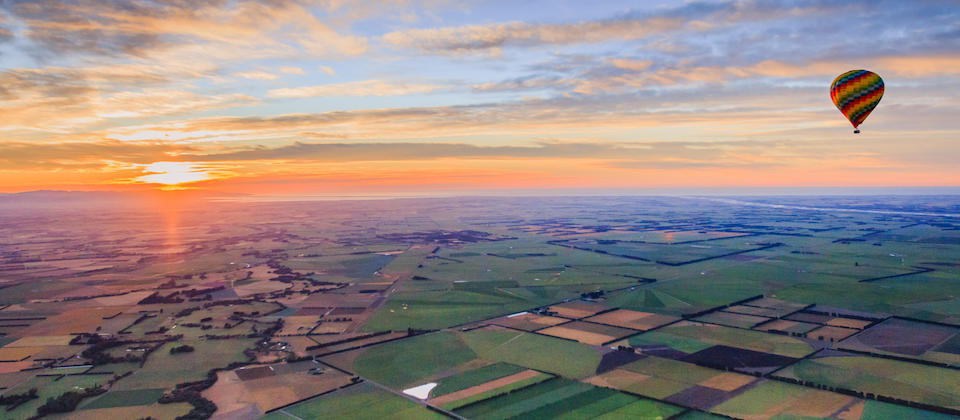 Sunrise over Canterbury Plains