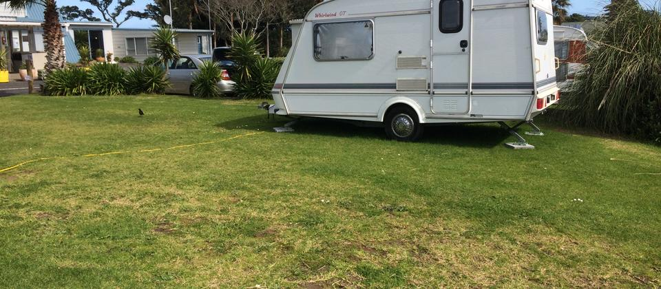 Powered sites/grass and shingle for motorhomes