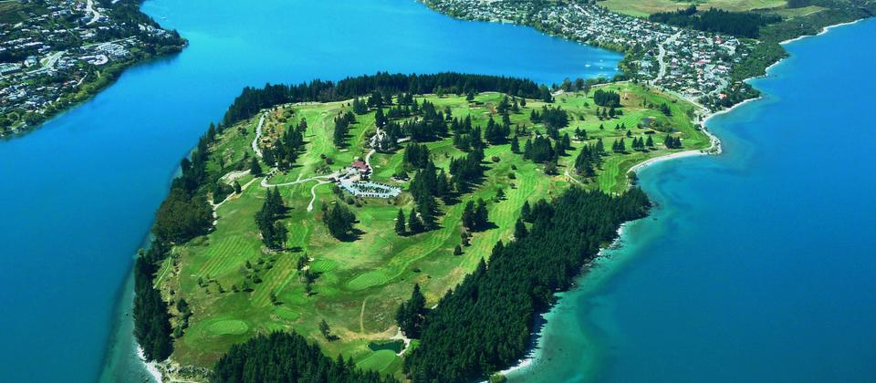 Aerial view of Queenstown Golf Club