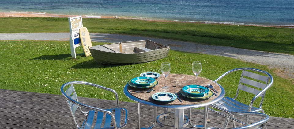View of Doubtless Bay from the Pacific Blue Apartment, Cable Bay Northland Holiday Accommodation