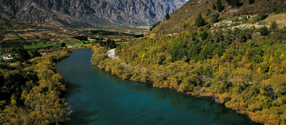 Jet boating on the Kawarau River, Queenstown