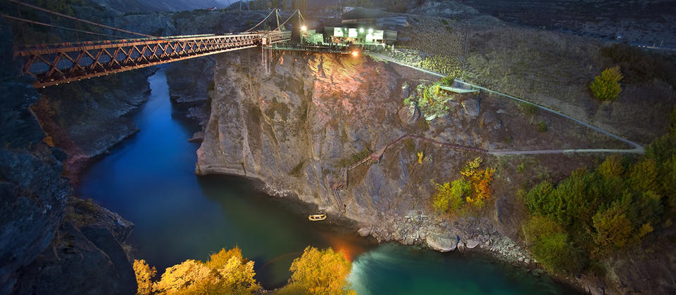 Kawarau Bridge Bungy Centre at night