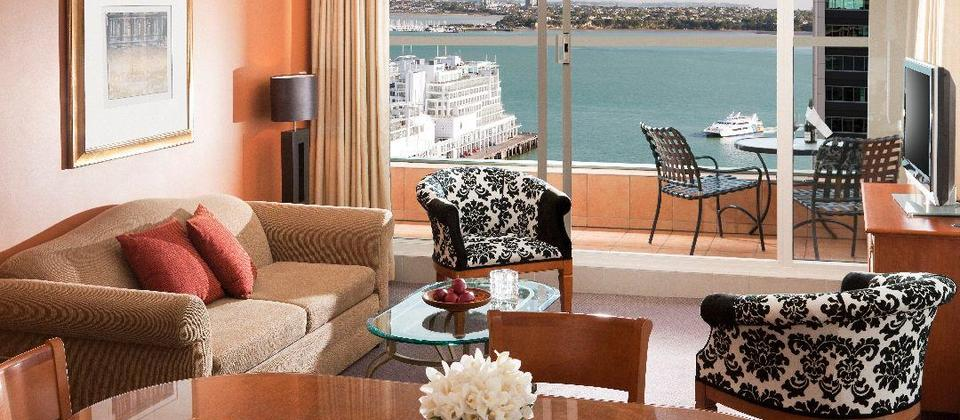 Quay West Suites Auckland Two Bedroom Lounge