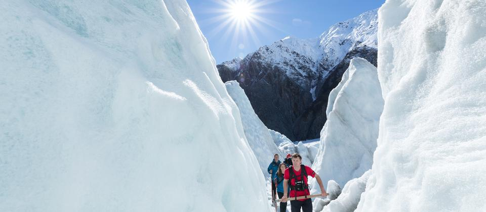 Hike through the most spectacular glacier features
