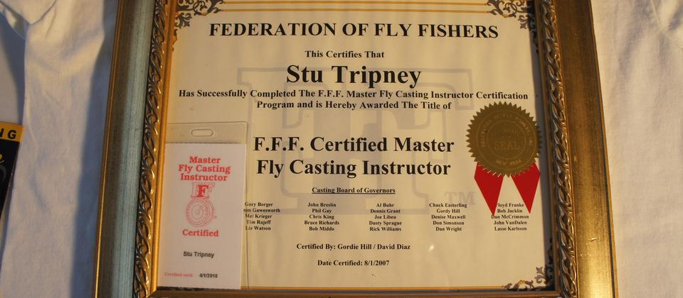 In 2007 Stu became the first Master fly casting instructor in Australasia. So you will be in the best hands.