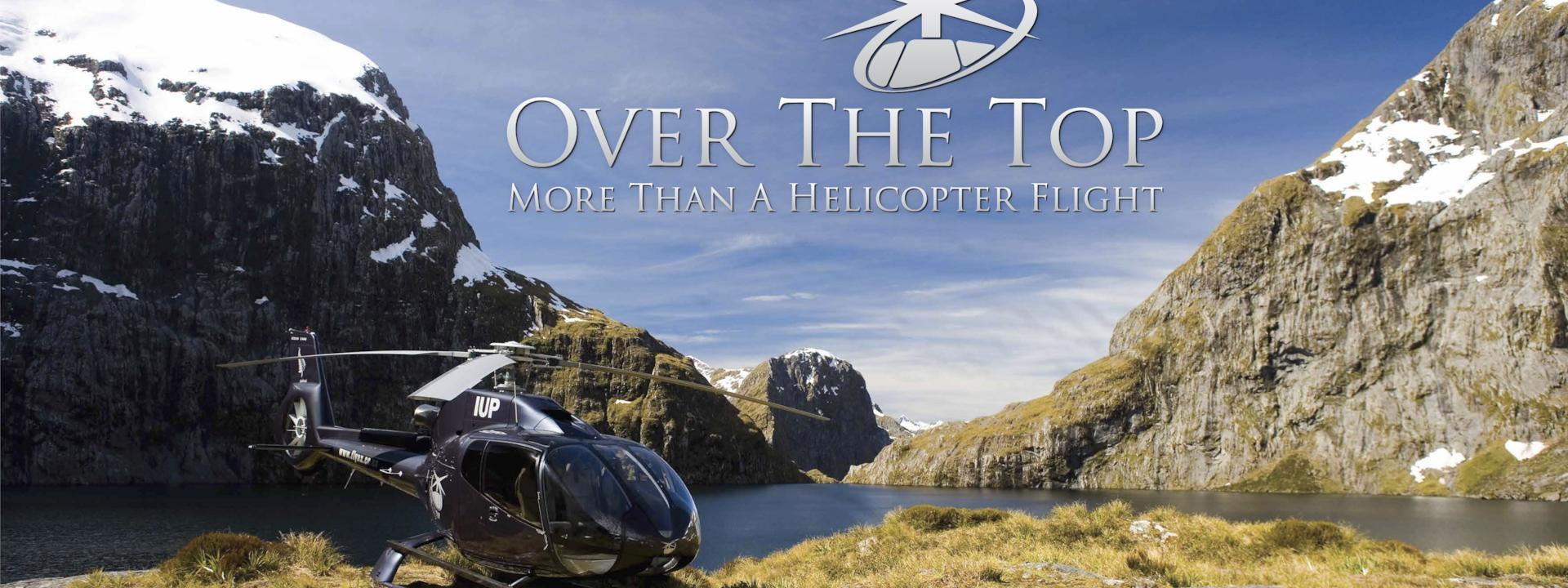 Logo: Over The Top - The Helicopter Company