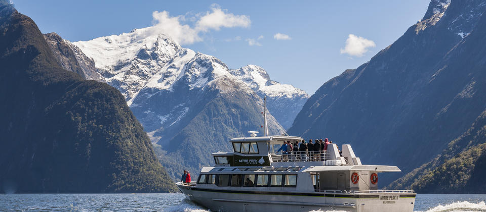 Cruise through the world-famous Milford Sound.