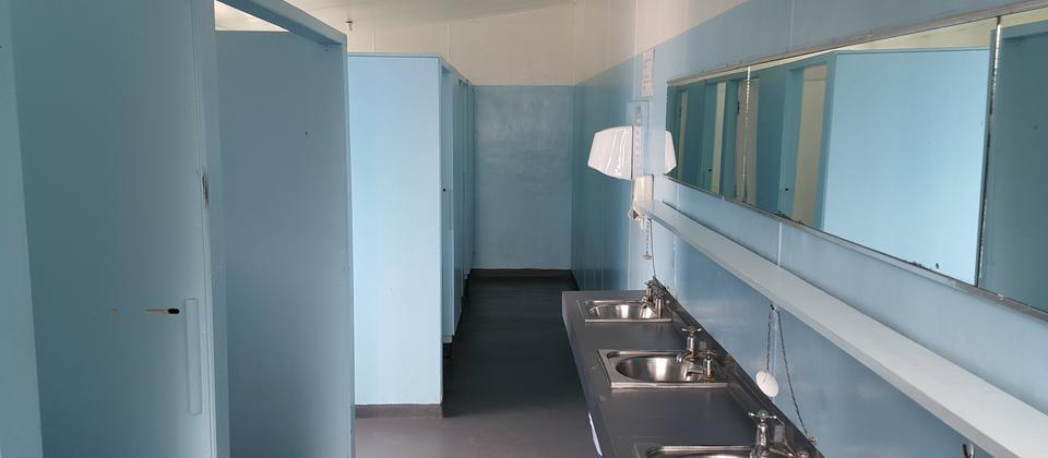 Communal shower/toilet block