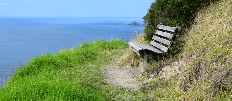 A bench with a view. Northern Coastal Walk