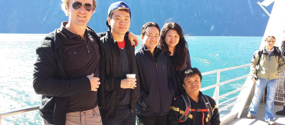 Milford Sound with the group