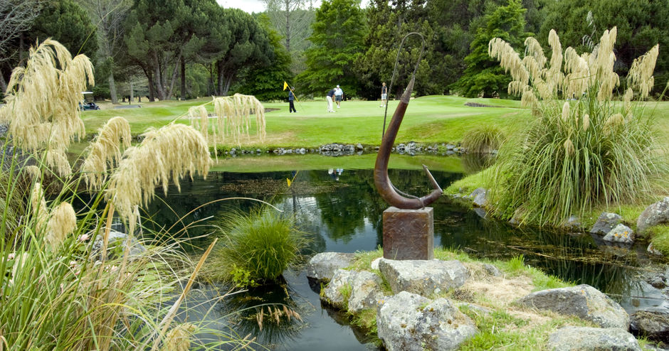 The stunning Wairakei Golf & Wildlife Sanctuary