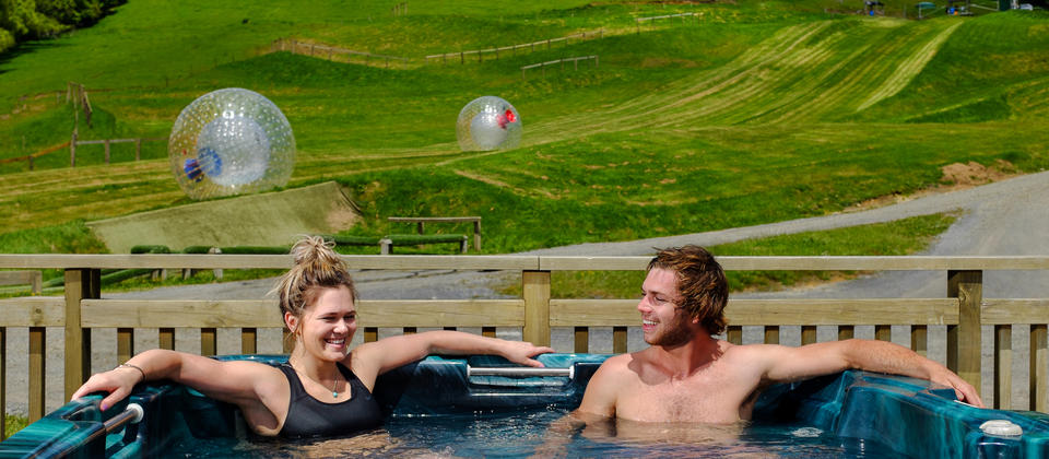 Hot tubs at ZORB