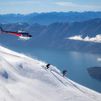 Heli-Skiing down
